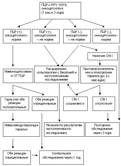 схема обследования при дисплазии шейки матки