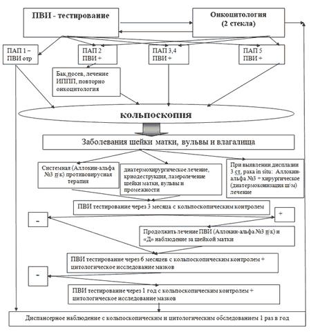схема лечения дисплазии шейки матки
